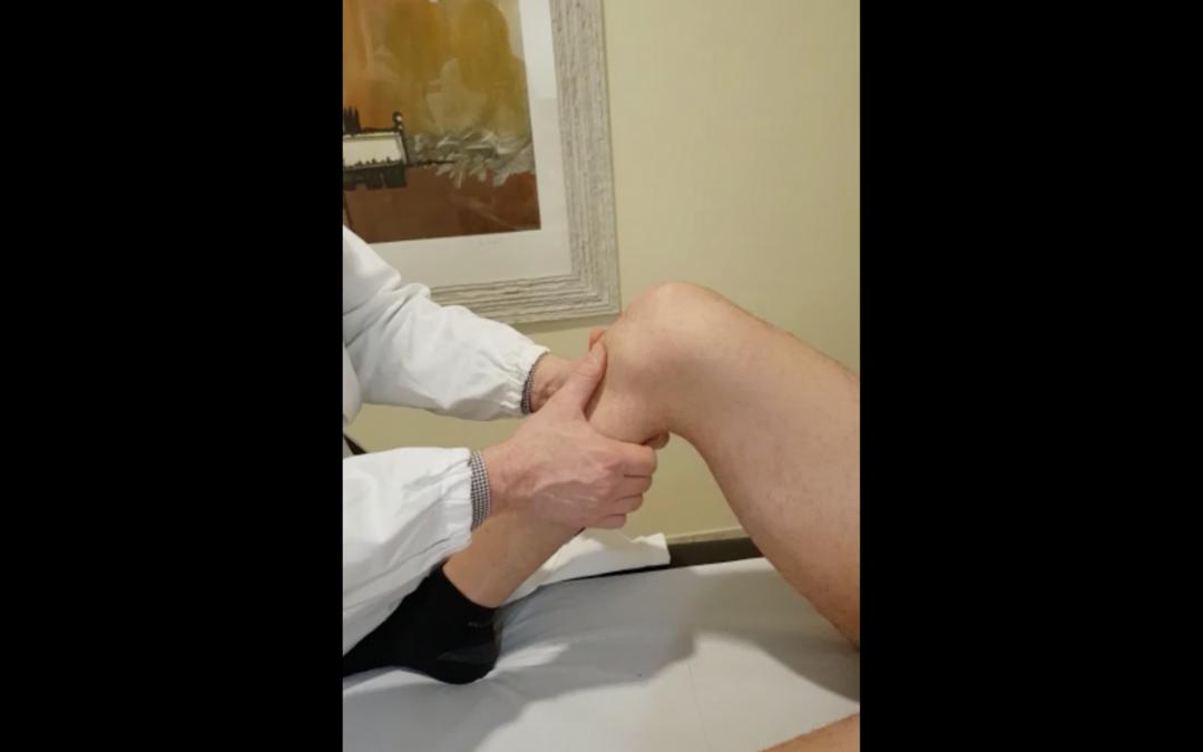 Lesione legamento crociato, video e spiegazione del Test del Cassetto